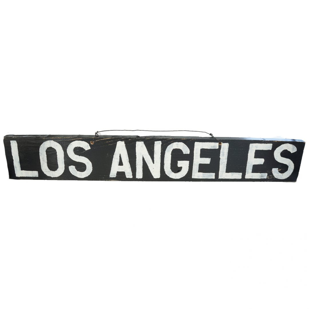 Los Angeles wood sign