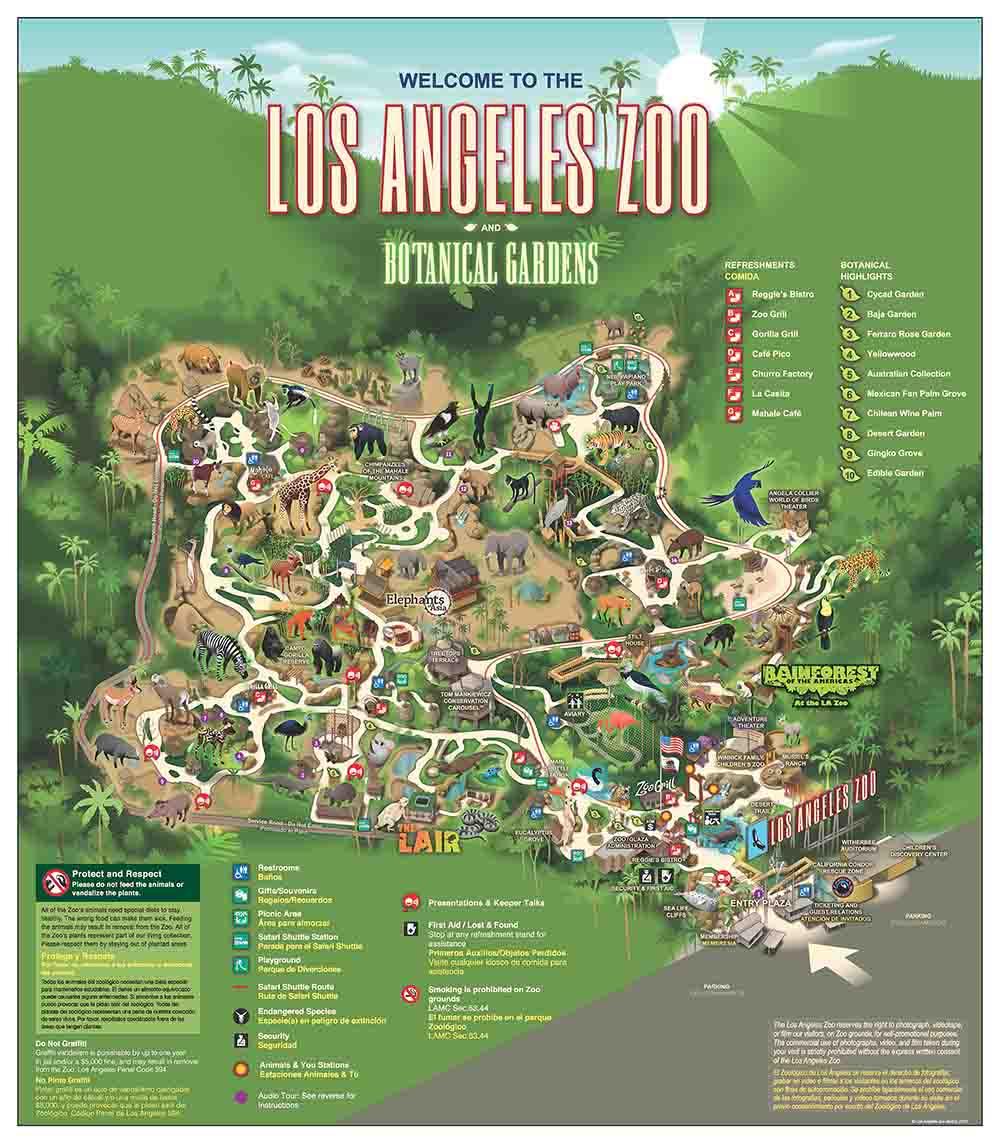 La Zoo Map Barrio La