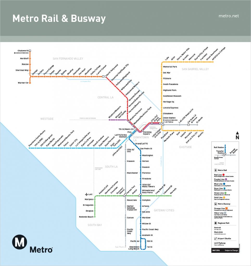 Metro LA rail map