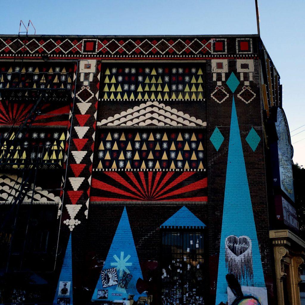 Street art in Arts District Los Angeles