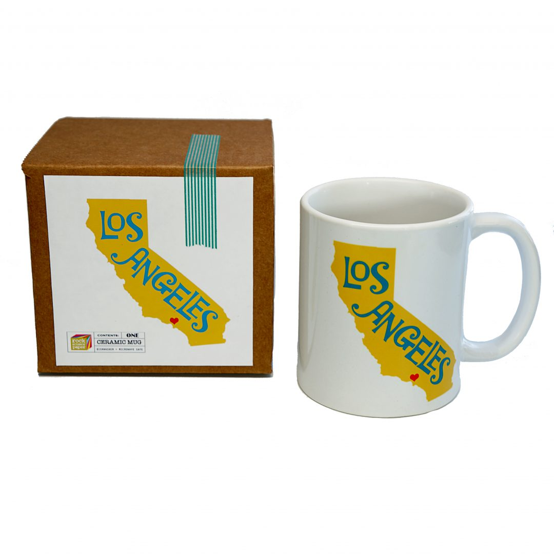 rock scissor paper los angeles mug