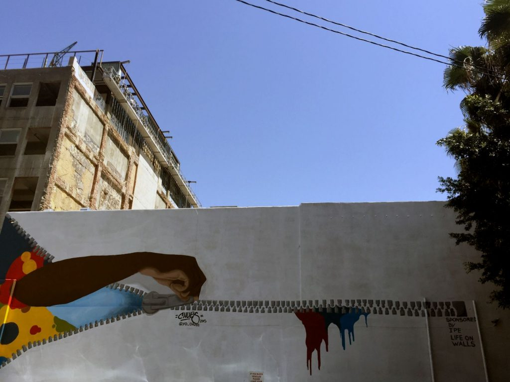 yo chubs street art in LA