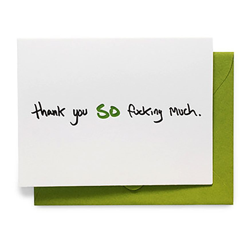 thank you so fucking much greeting card