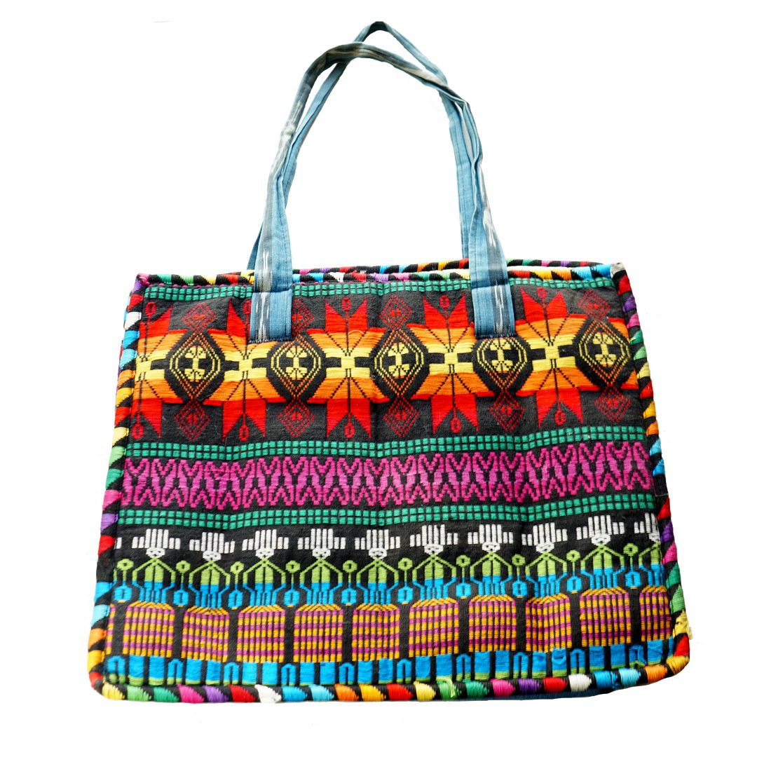 red aztec bag