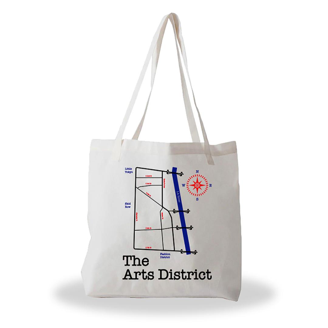 Arts District LA tote bag 6250 Maps