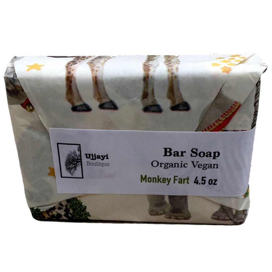 organic kids soap - monkey farts -from Ujjayi Boutique