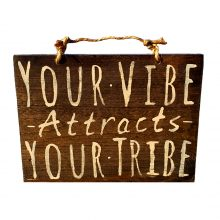 your vibe wood sign HollyWood & Twine
