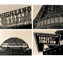 Eastside LA card set by Ink + Smog Editions