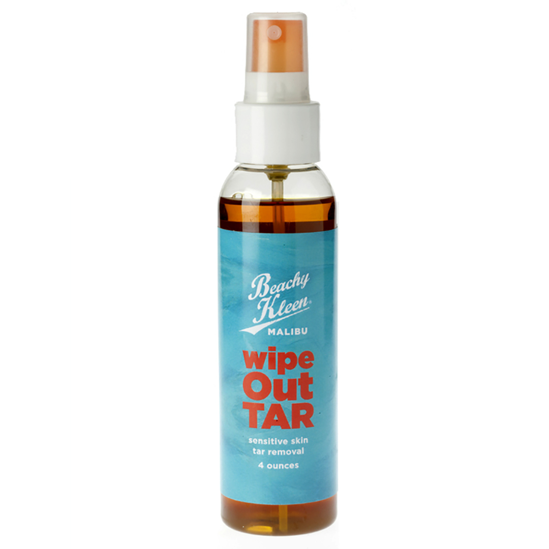 wipe out tar from beachy kleen