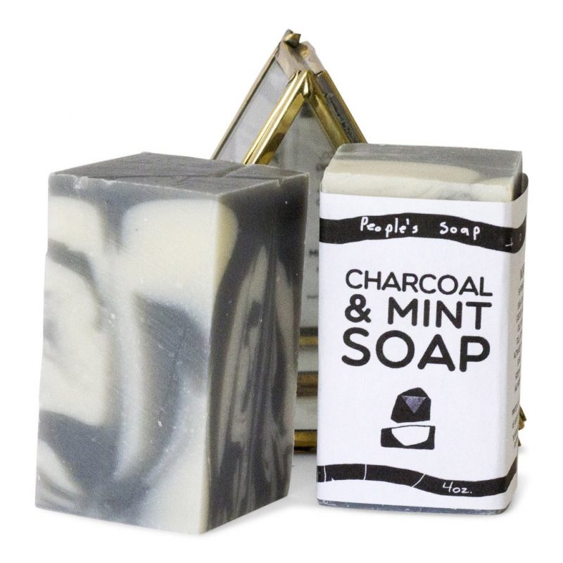 charcoal mint soap from The People's Soap Co.