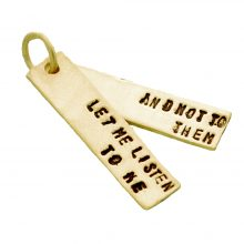 Gertrude Stein quote double pendant